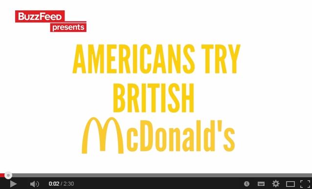 イギリスのマックはこんな感じだよ♪世界のマック食べ比べてみたいかも★